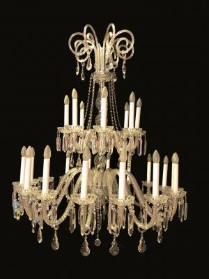 Lustre Cristal K9 24 lâmpadas