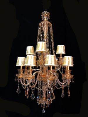 Lustre Cristal AMBAR K9 12 lâmpadas